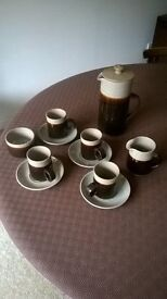 Hand made Severn Gorge coffee set