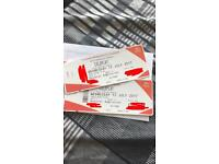 2 standing tickets 12th July Cardiff