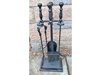 Hearth Set - 4 piece brush/shovel/poker/tongs - lovely item