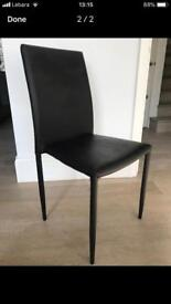 Chair leather black good quality!
