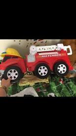 Children's huge matchbox fire engine