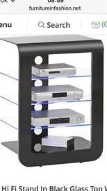 Mezzo high gloss black & glass TV/Hi-Fi unit (like new)