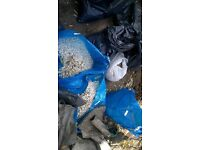 white stone chippings