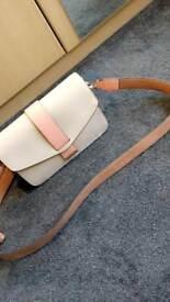 Beige and coral handbag
