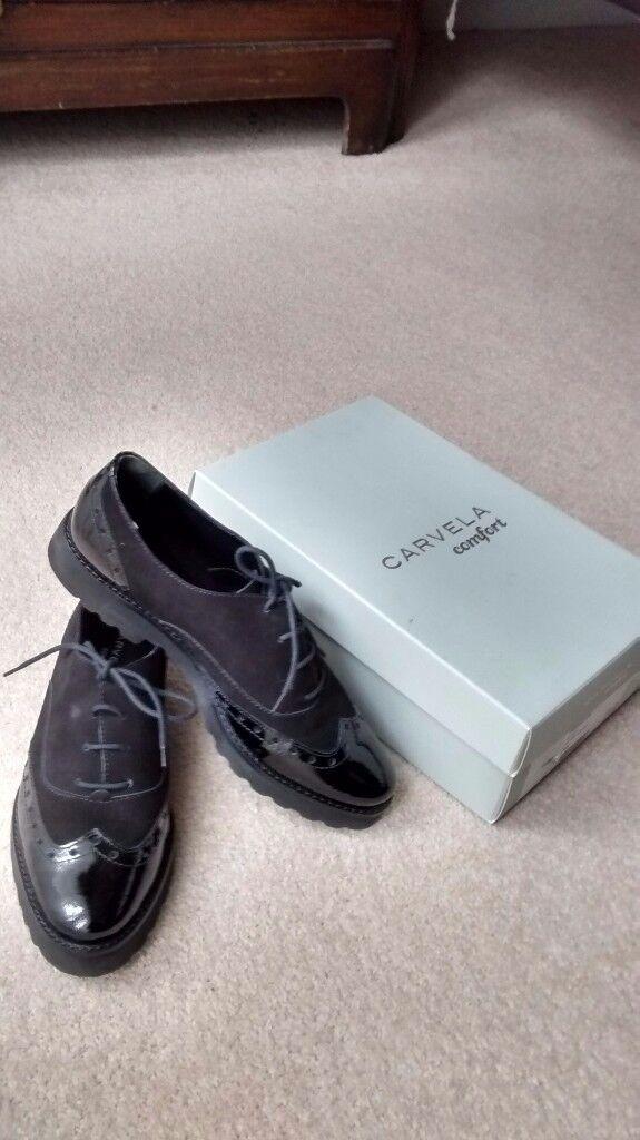 Carvela Black Patent Suede shoes.