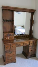 DRESSER with large mirror, and matching bedside table.