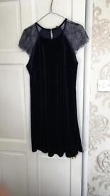 River island velvet dress - size 10