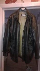 Mens XXXL leather jacket black