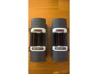 Powerblock Sport 9.0 Adjustable Dumbbells Pair Stage 1 & 2 (2.25-41kg) NOT BOWFLEX, olympic, weights