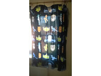 Toy story and dinosaur pattern lamp shade, curtains