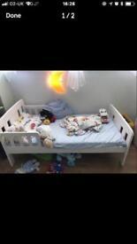 John Lewis white solid wood toddler bed