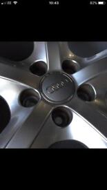 5 Spoke Audi alloy wheels with Tyres *perfect condition*