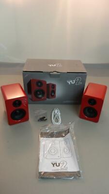 Kanto YU2 Powered Desktop Speakers, Gloss Red