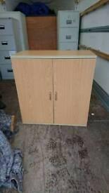 Beech office small cabinet
