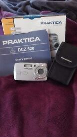 Great condition Praktica Camera DCZ 520 with case, original packaging and manual