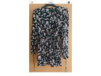 Zara Trafaluc Playsuit floral like new