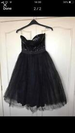 Black strapless evening dress size 12