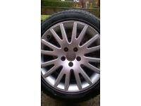 "audi 17"" alloy wheels 5x112 pcd vw t4 caddy passat seat"