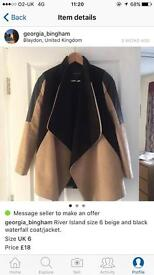 River Island waterfall coat/jacket