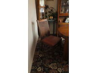 Dining room table and 4 chairs, with matching diplay unit