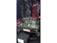 8 core 5ghz x8 ,24 gb ripsaw ram, ssd drive gtx 680 flashed gtx 770 to much to list