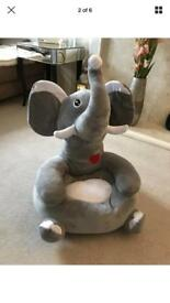 BRAND NEW Grey child's/toddler's elephant seat/chair/cushion toy/teddy