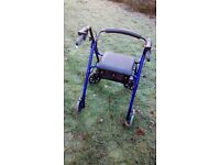 Days Four Wheel Rollator Walker - Blue - Hardly Used