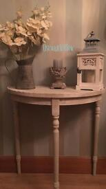 STUNNING county grey half moon console table