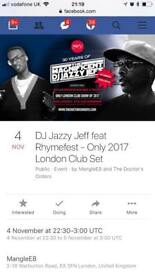 DJ Jazzy Jeff gig tickets feat Rhymefest London
