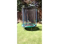 4.5ft trampoline. Plum. Net fully intact.