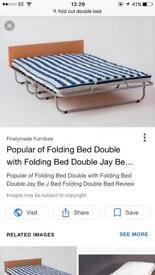 Foldable double bed