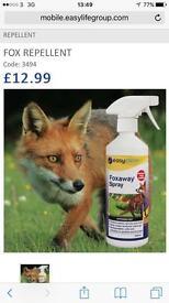 Totally safe fox repellant garden spray