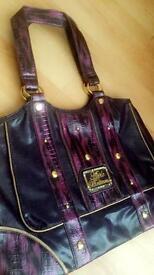 As New ladies APPLE BOTTOM purple handbag