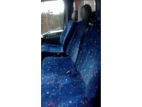 15 Minibus seats, pristine condition, 3 double + 9 single