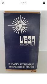 Vega transistor radio vintage brand new boxed a.m./mw