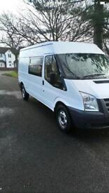 Ford transit T350 115 bhp lwb 5 seater very good condition