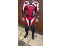 speedy leather suit