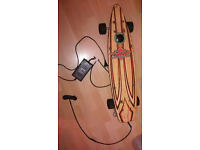 Vintage skateboard electric with charger