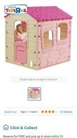 Girls pink Wendy house