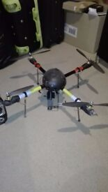 Drone remote aerial quadcopter and transmitter + batteries