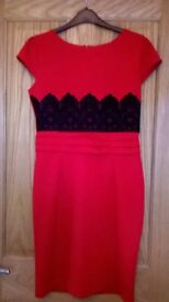 Jessica Wright lace contrast evening party dress size 14