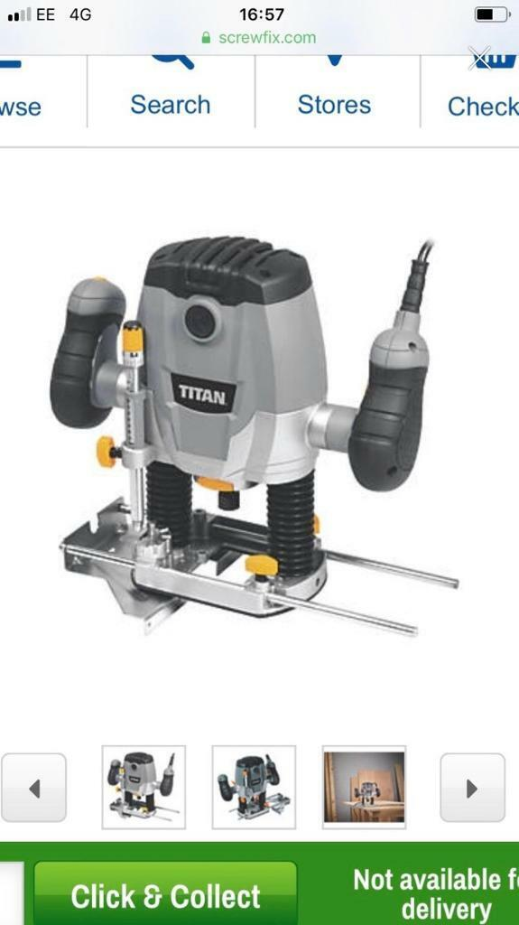 Titan router used once   in Reading, Berkshire   Gumtree