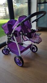 Dimples Ella Twin pushchair, excellent condition, barely used