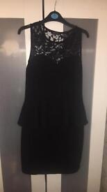 Size 12 black peplum dress