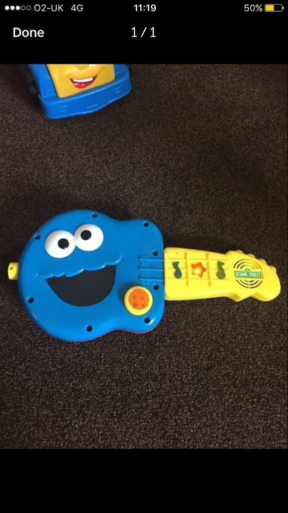 Sesame Street guitar sounds toy