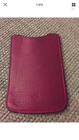 Genuine pink mulberry phone case
