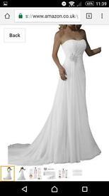 Size 12 wedding dress never worn
