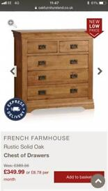 Oakland furnature french farmhouse bed and drawers