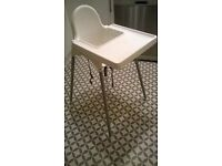 For Sale: White Ikea Highchair with removable tray