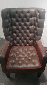 High Back Wing Arm Chair